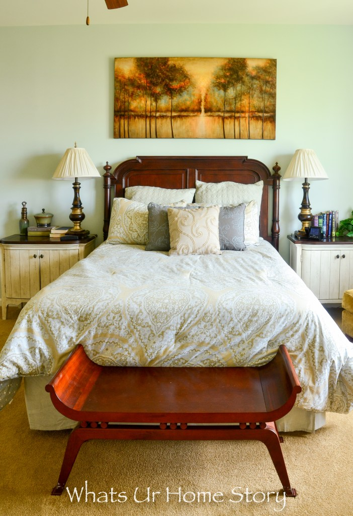 eclectic home tour - mint green bedroom