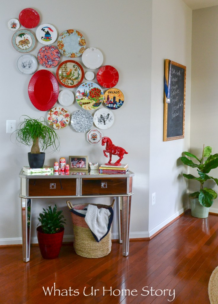 PLATE CAN BE A GREAT AND INEXPENSIVE WAY TO ADD COLOR TO A BLANK WALL