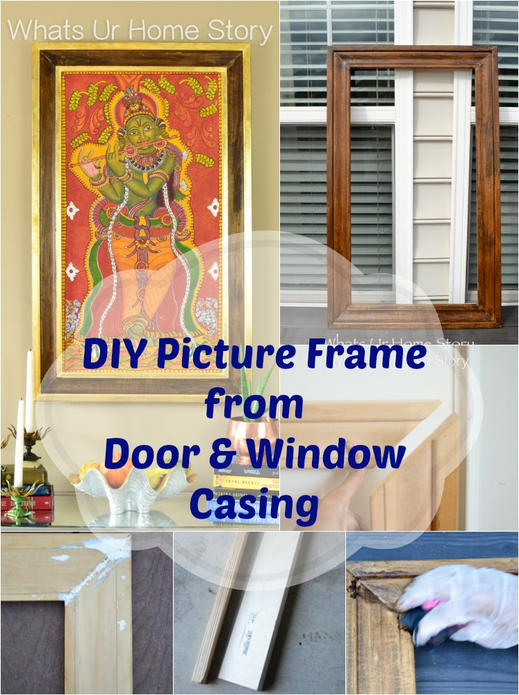 Step by step tutorial on how to make a picture frame from door & window casing