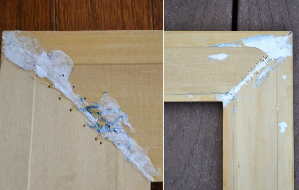 how to make a picture frame from door and window molding
