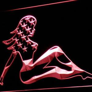 American Woman neon light sign