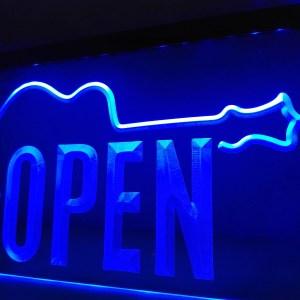 Music Store Open neon light sign