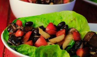 Black Bean Hoisin Lettuce Wraps