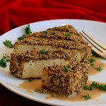 Crispy Coated Baked Tofu with Gravy