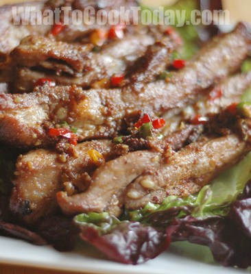 FRIED STEWED COUNTRY SPARERIBS/ ZHA LI ROU