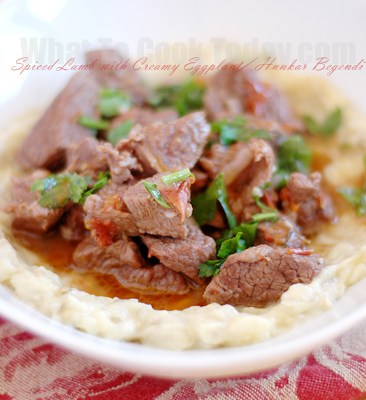 SPICED LAMB WITH CREAMY EGGPLANT/ HUNKAR BEGENDI