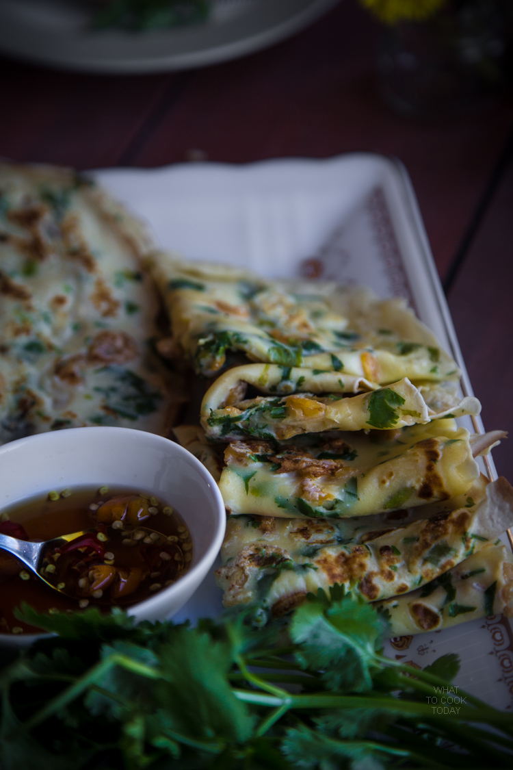 Savory dried shrimp crepes (15 crepes)width=