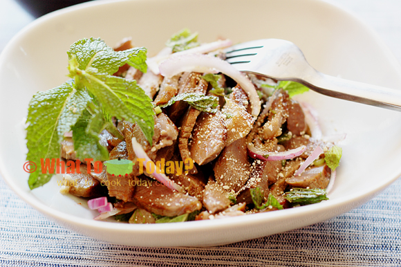 GRILLED BEEF SALAD FROM ISAN/ NAAM TOK NUEA