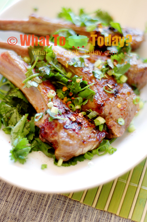 BARBECUED LAMB CHOPS/ 燒 烤羊 排