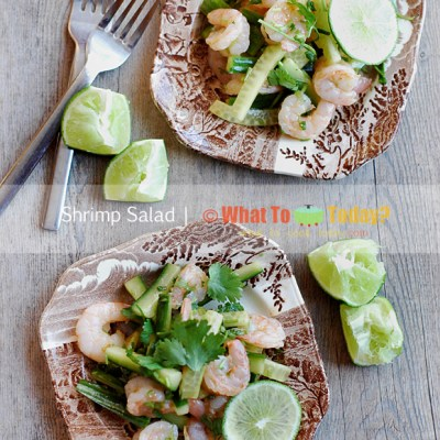 SHRIMP SALAD WITH ENGLISH CUCUMBER