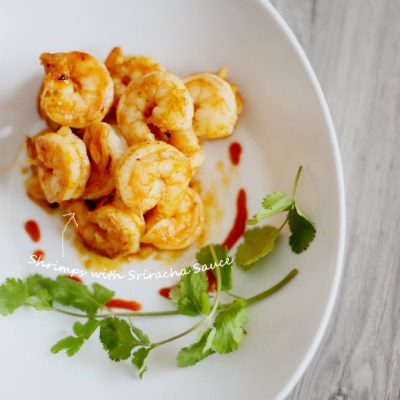 SHRIMPS WITH SRIRACHA SAUCE