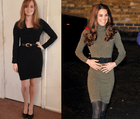 Kate is wearing a Ralph Lauren sweater dress on a visit to CentrepointDress: BCBG | Shoe: Nine West