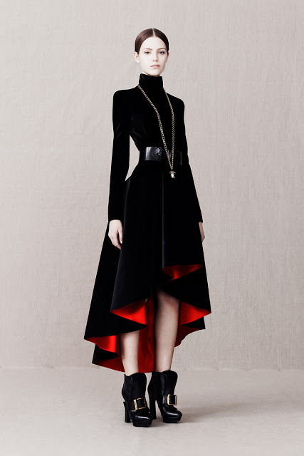 Alexander McQueen Pre-Fall 2013 Black Dress