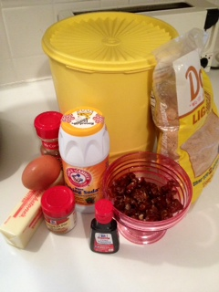 Sticky toffee pudding-ingredients