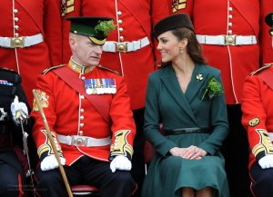 Kate Celebrates St. Patrick's Day with the Irish Guard