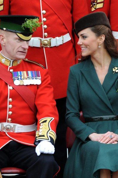 Kate Celebrates St. Patrick's Day with the Irish Guard