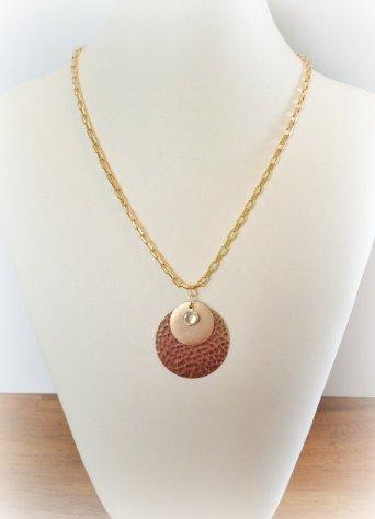 Triple Disc Necklace | $17.00