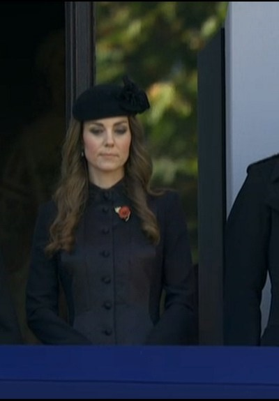 Kate attends Remembrance Sunday