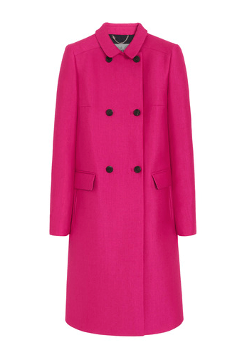 Mulberry Double Breasted Cerise Wool Coat