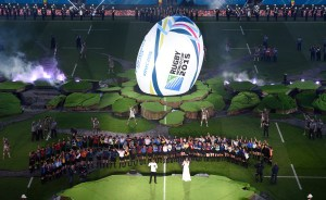 William & Kate Attend the Rugby World Cup Opening Ceremonies