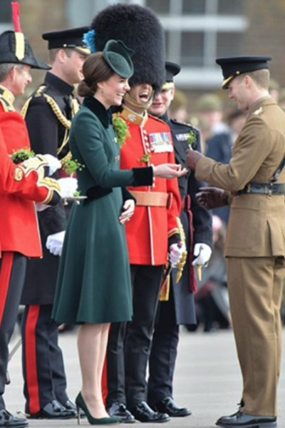 Kate Attends St.Patrick's Day Festivities
