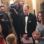 The Duke and Duchess of Cambridge attend the Royal Variety Show
