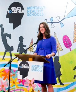 "The Duchess of Cambridge Launches ""Mentally Healthy Schools"""