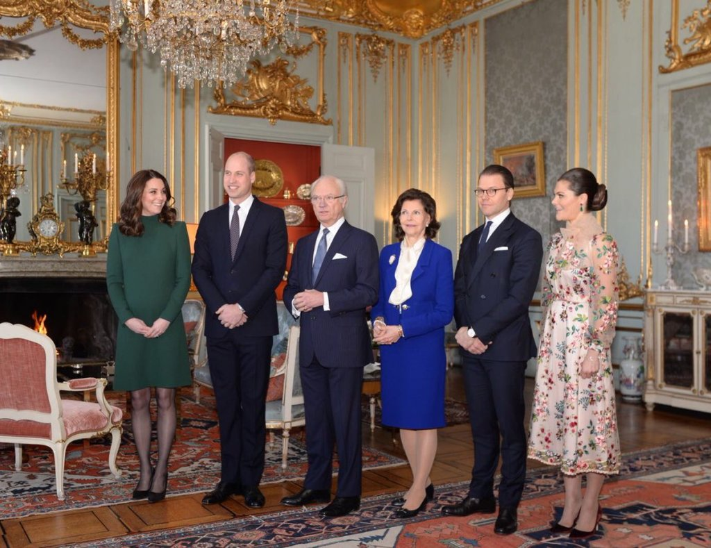 Duchess Cambridge Stockhold Sweden Palace