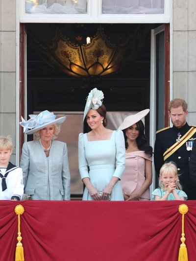 The Duchess of Cambridge joins Members of the Royal Family at the 2018 Trooping the Colour