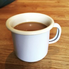 enamel coffee cup