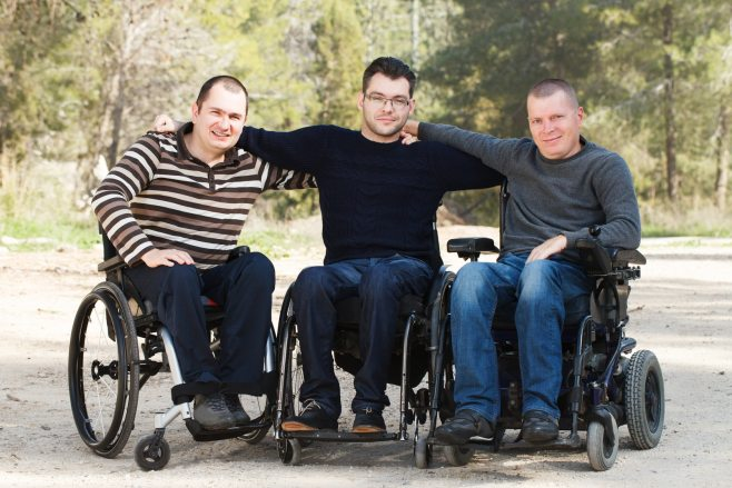 friends who use wheelchairs