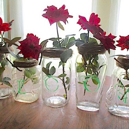 Cindi's Simple Solutions – Vintage Etched Jar Vases