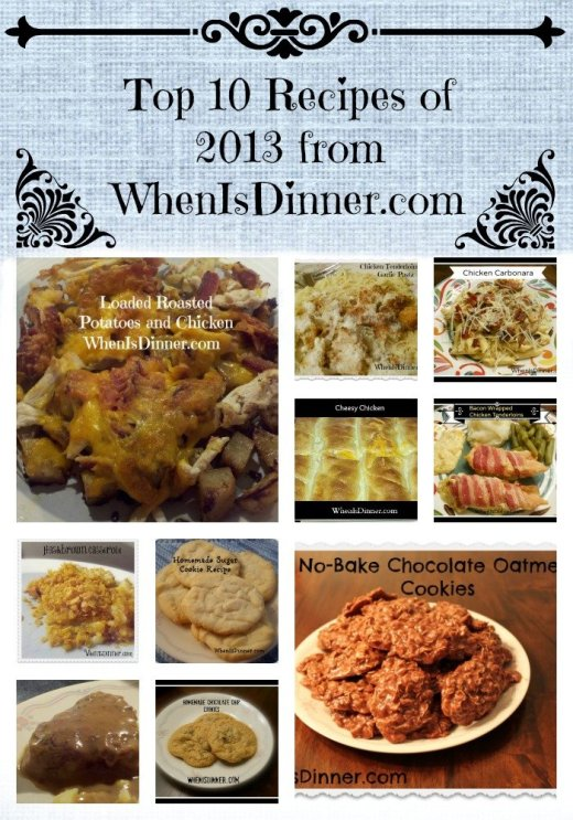 Top 10 Recipes of 2013 from WID