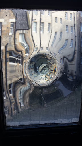 Cool glass at the top of the turret