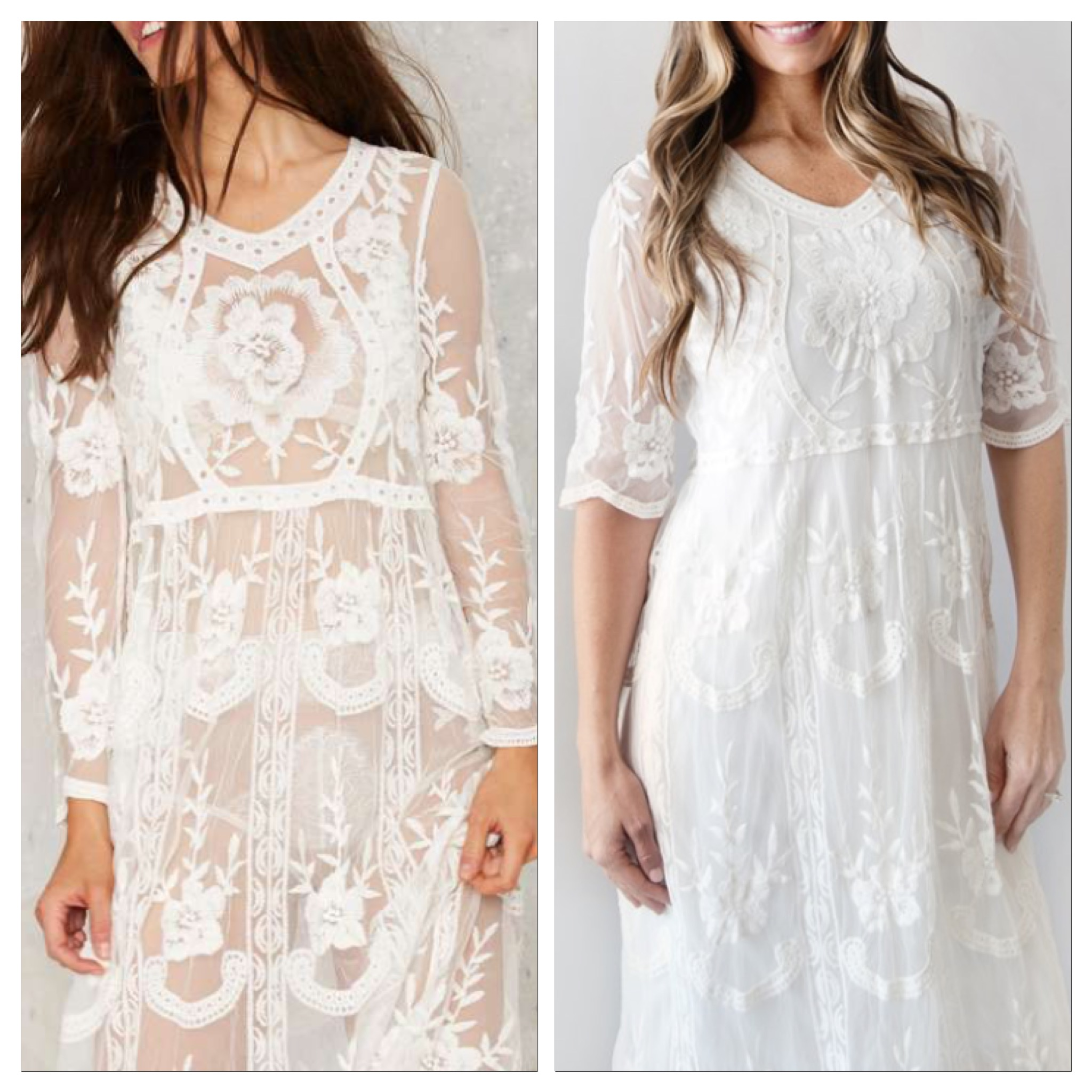 One dress is $88 and unlined, the other is $34.99 and lined. Almost identical!