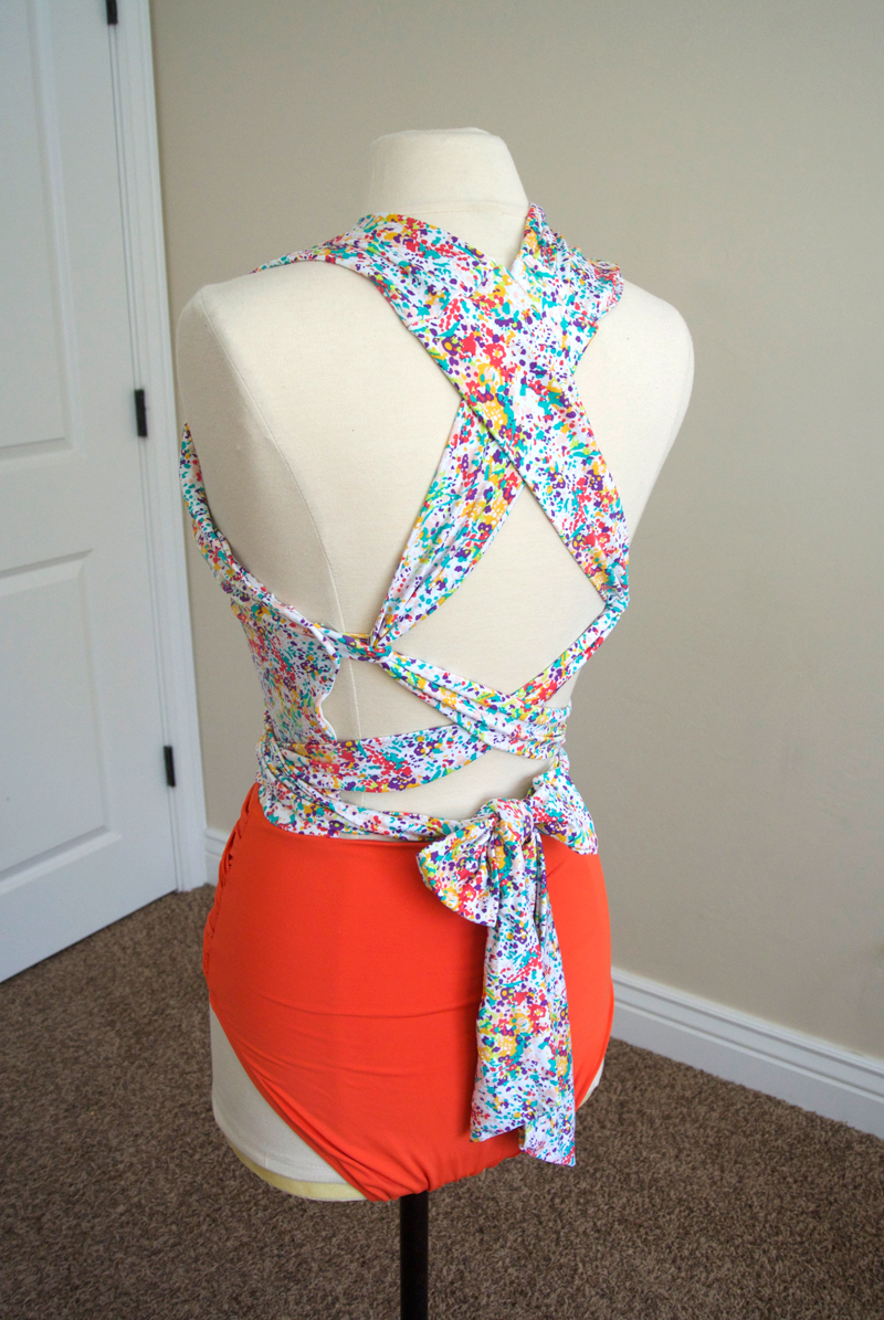 Cute swimsuit back. #modestswimsuit #swimsuit refashion