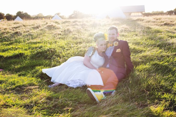 colourful camping wedding