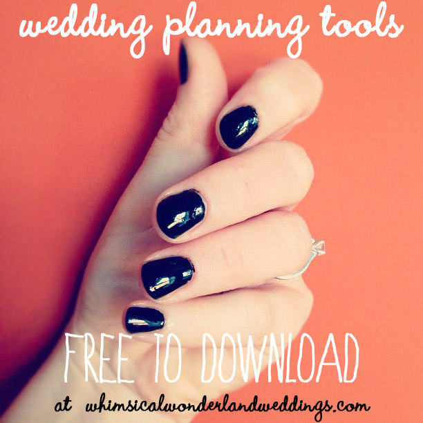 wedding planning tools