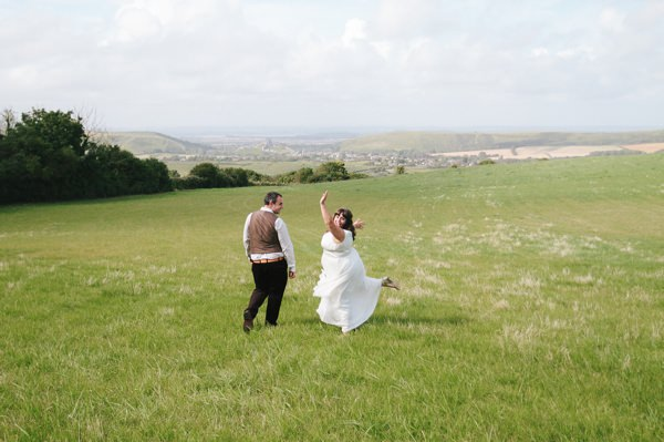 outdoors dorset wedding