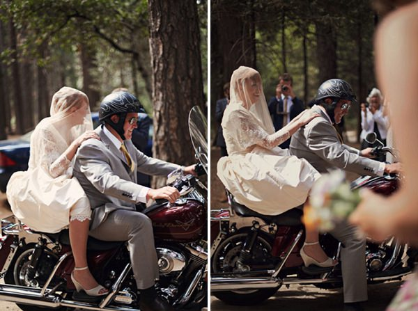 harley davidson wedding transport