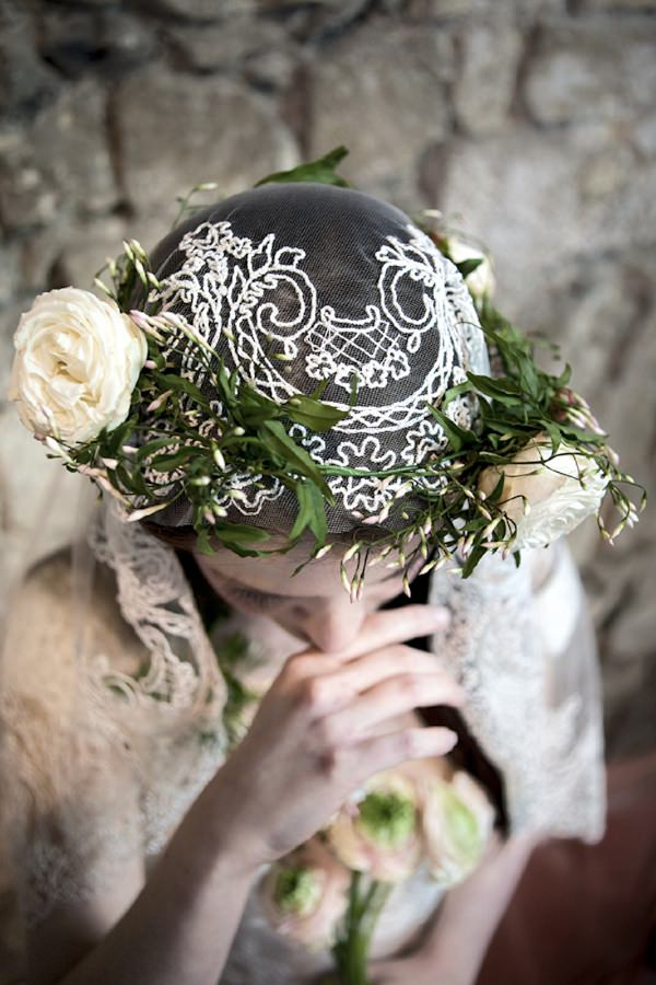 foliage flower bridal crown wedding headdress