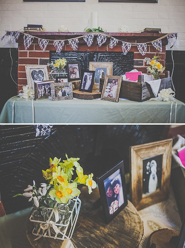 photograph table wedding