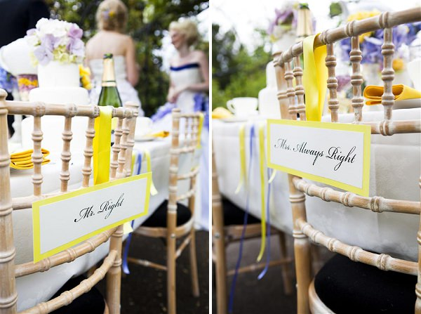 chair decor signs wedding