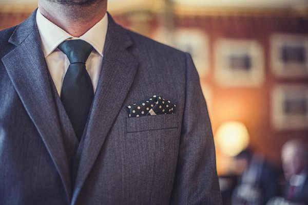 groom green tie pocket square