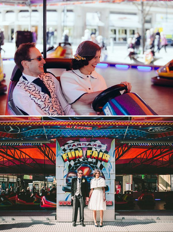 funfair wedding bumper cars