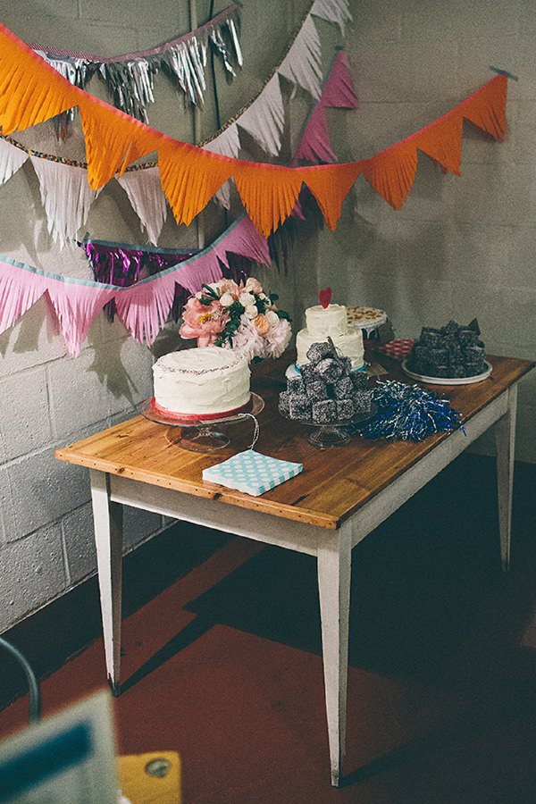 cake dessert table wedding