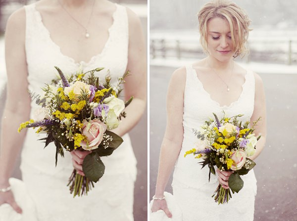 natural spring wedding flowers bouquet