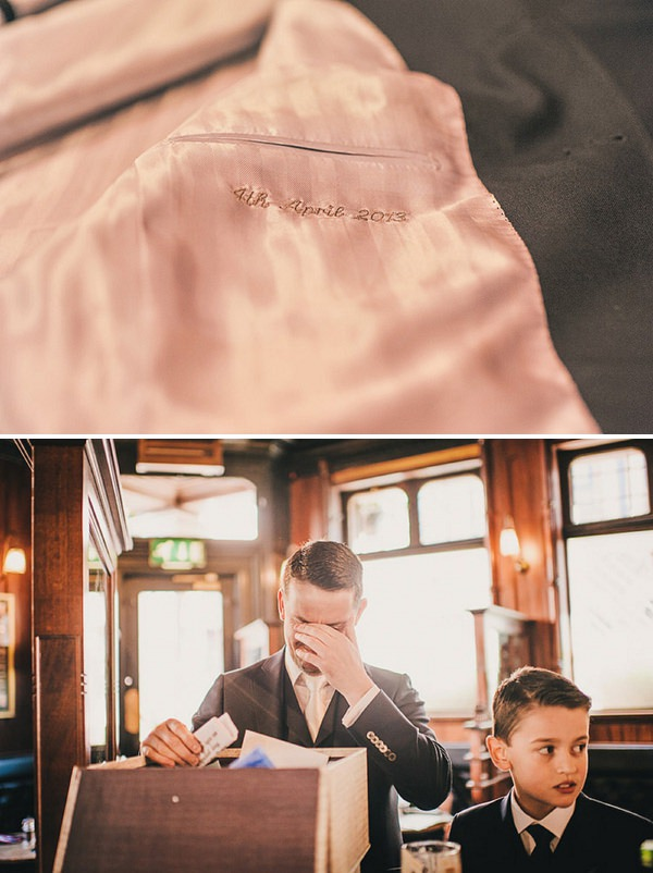 personalised wedding suit jacket