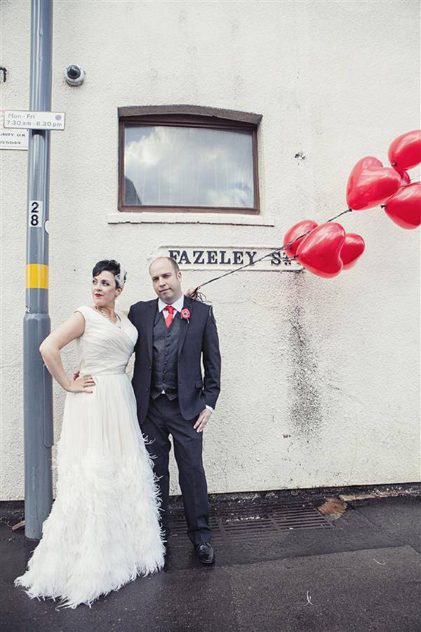 red heart balloons wedding