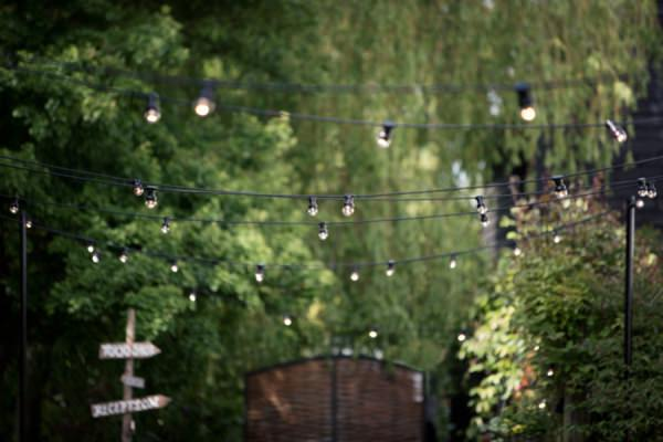 festoon lights wedding uk http://www.jasminephotography.co.uk/